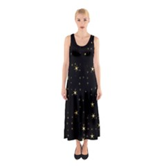 Awesome Allover Stars 02a Sleeveless Maxi Dress