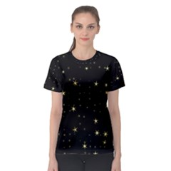 Awesome Allover Stars 02a Women s Sport Mesh Tee