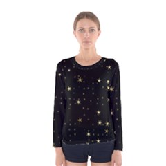 Awesome Allover Stars 02a Women s Long Sleeve Tee