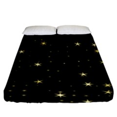 Awesome Allover Stars 02a Fitted Sheet (King Size)