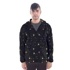 Awesome Allover Stars 02a Hooded Wind Breaker (men)