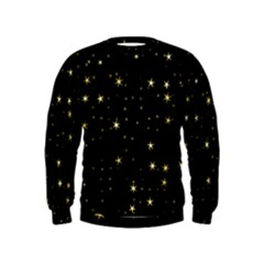 Awesome Allover Stars 02a Kids  Sweatshirt