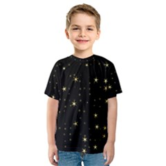 Awesome Allover Stars 02a Kids  Sport Mesh Tee