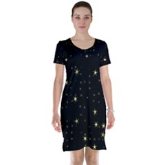 Awesome Allover Stars 02a Short Sleeve Nightdress