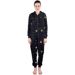 Awesome Allover Stars 02a Hooded Jumpsuit (Ladies)