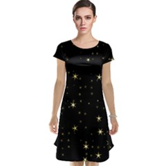 Awesome Allover Stars 02a Cap Sleeve Nightdress