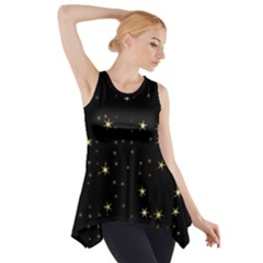 Awesome Allover Stars 02a Side Drop Tank Tunic