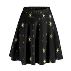 Awesome Allover Stars 02a High Waist Skirt
