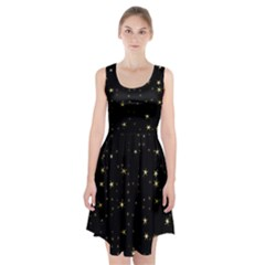 Awesome Allover Stars 02a Racerback Midi Dress
