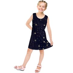 Awesome Allover Stars 02a Kids  Tunic Dress