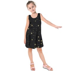 Awesome Allover Stars 02a Kids  Sleeveless Dress