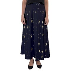Awesome Allover Stars 02a Flared Maxi Skirt