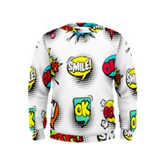 Comic Speech Bubbles  Kids  Sweatshirt