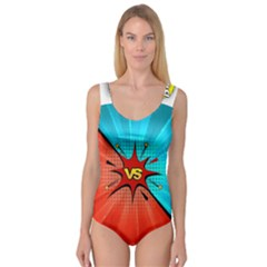 Comic Book VS with Colorful Comic Speech Bubbles  Princess Tank Leotard