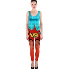 Comic Book VS with Colorful Comic Speech Bubbles  OnePiece Catsuit