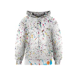 Colored Stains Pattern with Abstract Paint Splats  Kids  Zipper Hoodie