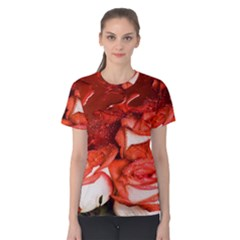 Nice Rose With Water Women s Cotton Tee