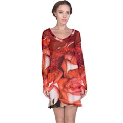 Nice Rose With Water Long Sleeve Nightdress