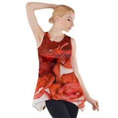 Nice Rose With Water Side Drop Tank Tunic
