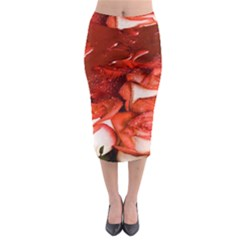 Nice Rose With Water Midi Pencil Skirt