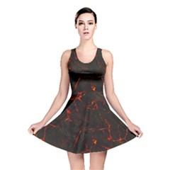 Volcanic Textures Reversible Skater Dress