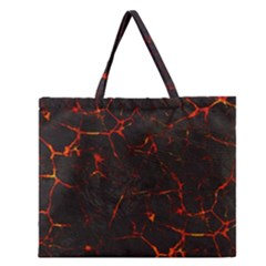 Volcanic Textures Zipper Large Tote Bag