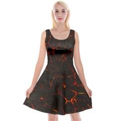 Volcanic Textures Reversible Velvet Sleeveless Dress
