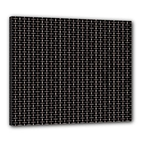 Dark Black Mesh Patterns Canvas 24  x 20