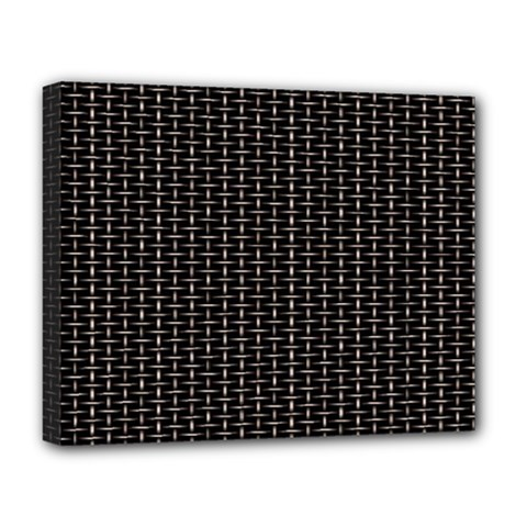 Dark Black Mesh Patterns Deluxe Canvas 20  X 16