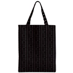 Dark Black Mesh Patterns Zipper Classic Tote Bag