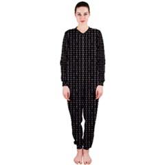 Dark Black Mesh Patterns Onepiece Jumpsuit (ladies)