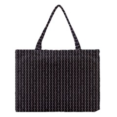 Dark Black Mesh Patterns Medium Tote Bag