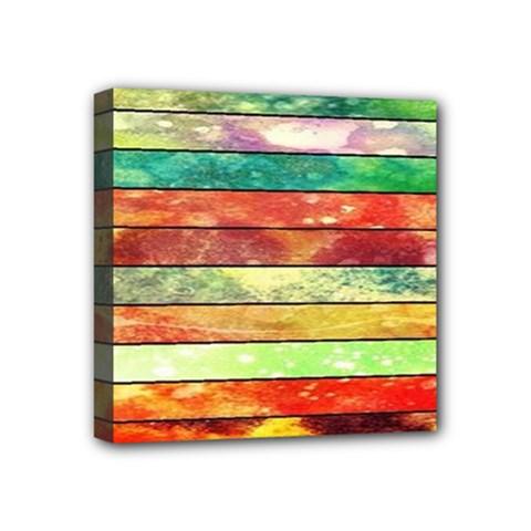 Stripes Color Oil Mini Canvas 4  x 4
