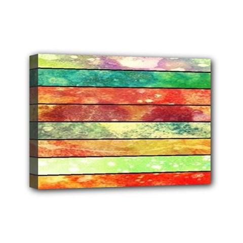 Stripes Color Oil Mini Canvas 7  x 5