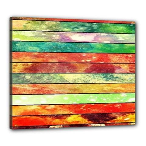 Stripes Color Oil Canvas 24  x 20