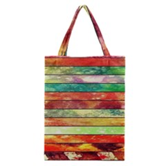 Stripes Color Oil Classic Tote Bag