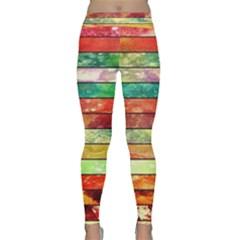Stripes Color Oil Classic Yoga Leggings