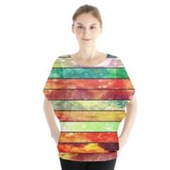 Stripes Color Oil Blouse