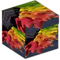 Green Yellow Red Maple Leaf Storage Stool 12