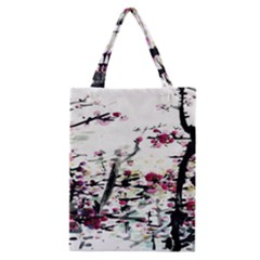 Pink Flower Ink Painting Art Classic Tote Bag