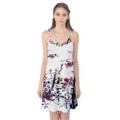 Pink Flower Ink Painting Art Camis Nightgown