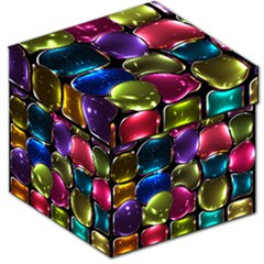 Stained Glass Storage Stool 12