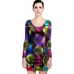 Stained Glass Long Sleeve Bodycon Dress