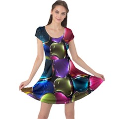 Stained Glass Cap Sleeve Dresses