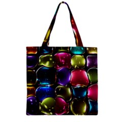 Stained Glass Zipper Grocery Tote Bag