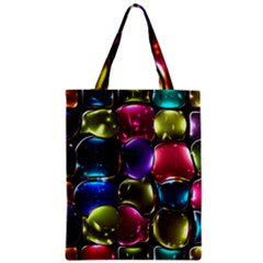 Stained Glass Zipper Classic Tote Bag