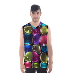 Stained Glass Men s Basketball Tank Top