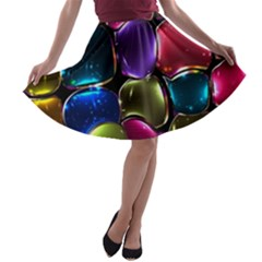 Stained Glass A Line Skater Skirt