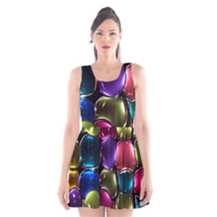 Stained Glass Scoop Neck Skater Dress