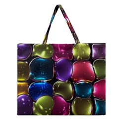 Stained Glass Zipper Large Tote Bag